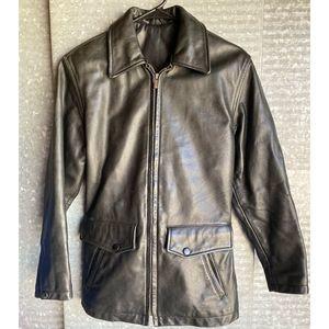 Coach Black Leather Jacket Women's Size XS